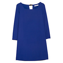 Buy Mango Squared Neck Dress, Bright Blue Online at johnlewis.com