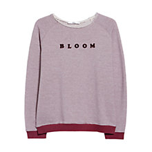Buy Mango Plush Message Sweatshirt Online at johnlewis.com