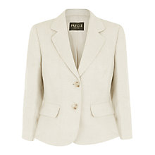 Buy Precis Petite Linen Collar Jacket, Mid Neutral Online at johnlewis.com