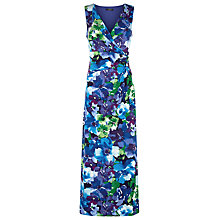 Buy Precis Petite Floral V Neck Maxi Dress, Multi Online at johnlewis.com