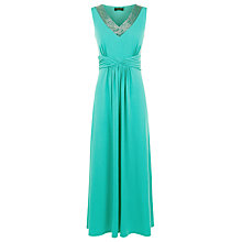 Buy Precis Petite Embellished Maxi Dress, Jade Jewel Online at johnlewis.com