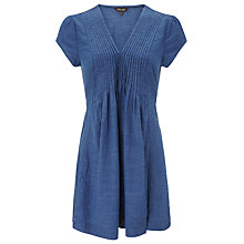 Buy Phase Eight Nala Pintuck Tunic Dress, Denim Online at johnlewis.com
