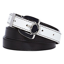 Buy Karen Millen Stripe Print Belt, Black/White Online at johnlewis.com