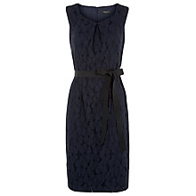 Buy Precis Petite Lace A-Line Belted Dress, Navy Online at johnlewis.com