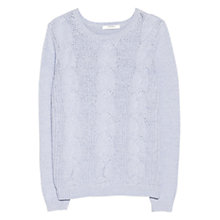 Buy Mango Cable Knit Jumper, Light Pastel Blue Online at johnlewis.com