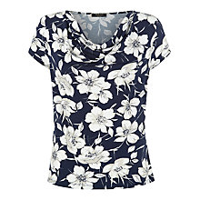 Buy Precis Petite Cannes Floral Top, Navy/White Online at johnlewis.com