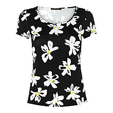 Buy Precis Petite Daisy Jersey Top, Navy/Multi Online at johnlewis.com