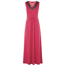 Buy Precis Petite Embellished Maxi Dress, Raspberry Online at johnlewis.com