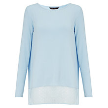 Buy Phase Eight Solange Spot Trim Top, Starlight Blue Online at johnlewis.com