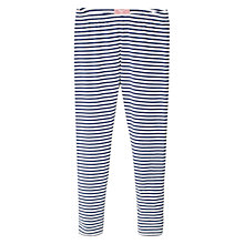 Buy Mango Kids Girls' Stripe Leggings, Navy Online at johnlewis.com