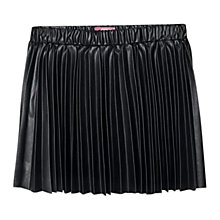 Buy Mango Kids Girls' Faux Leather Skirt, Black Online at johnlewis.com