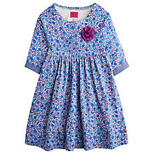 Buy Little Joule Girls' Floral Jersey Dress, Blue/Multi Online at johnlewis.com