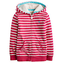 Buy Little Joule Girls' Fleece Lined Stripe Hoodie, Pink Online at johnlewis.com