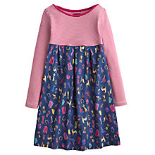 Buy Little Joule Mix Print Jersey Dress, Navy Online at johnlewis.com