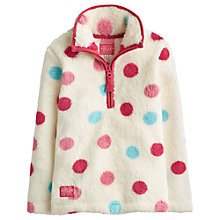 Buy Little Joule Girls Fluffy Spot Fleece, Multi Online at johnlewis.com