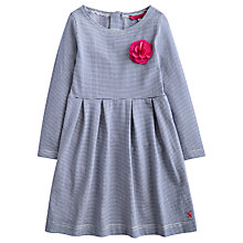 Buy Little Joule Girls' Stripe Jersey Dress, Navy Online at johnlewis.com