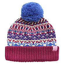 Buy Little Joule Fair Isle Hat, Purple/Blue Online at johnlewis.com