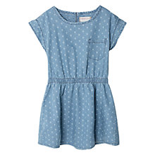 Buy Mango Kids Girls' Chambray Dress, Navy Online at johnlewis.com