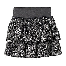 Buy Mango Kids Girls' Ruffled Skirt, Black Online at johnlewis.com