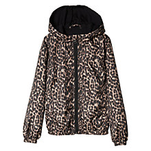 Buy Mango Kids Girls' Waterproof Leopard Print Jacket Online at johnlewis.com