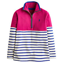 Buy Little Joule Girls' Colourblock Half Zip Fleece Top, Multi Online at johnlewis.com