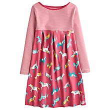 Buy Little Joule Girls' Stripe & Horse Print Dress, Dark Pink Online at johnlewis.com