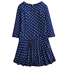 Buy Little Joule Girls' Jersey Spot Dress, Navy Online at johnlewis.com