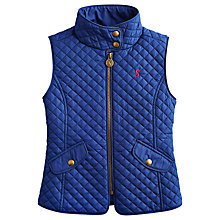 Buy Little Joule Girls' Quilted Gilet, Navy Online at johnlewis.com