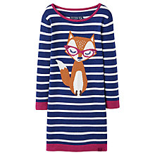 Buy Little Joule Fox Stripe Knit Dress, Navy Online at johnlewis.com