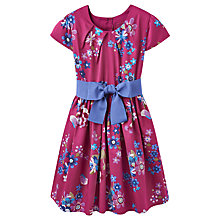 Buy Little Joule Girls' Multi Floral Print Prom Dress, Ruby Online at johnlewis.com
