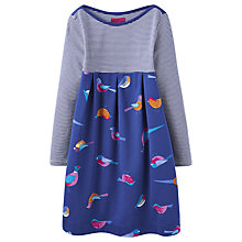 Buy Little Joule Girls' Winter Birds Dress, Blue Online at johnlewis.com