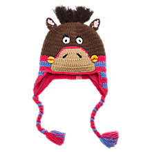 Buy Little Joule Girls' Horse Hat, Multi Online at johnlewis.com