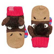Buy Little Joule Horse Mitten Gloves, Brown/Pink Online at johnlewis.com