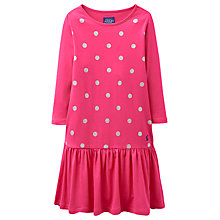 Buy Little Joule Girls' Glitter Spot Jersey Dress Online at johnlewis.com