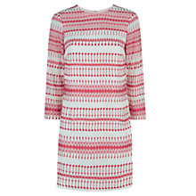 Buy Hobbs Parissa Dress, Ivory Geranium Pink Online at johnlewis.com