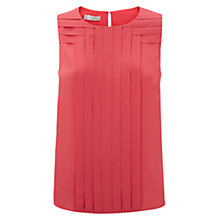 Buy Hobbs Ondine Top, Geranium Pink Online at johnlewis.com