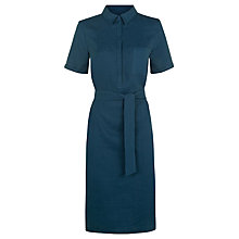 Buy Jaeger Linen Shirt Dress, Teal Online at johnlewis.com