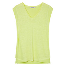 Buy Gerard Darel Linen Ajaccio Top, Lime Online at johnlewis.com