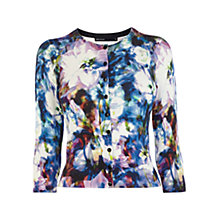Buy Karen Millen Floral Print Cardigan, Multi Online at johnlewis.com