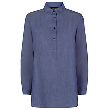 Buy Jaeger Cotton Tunic Shirt, Chambray Online at johnlewis.com