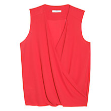 Buy Mango Draped Chiffon Top Online at johnlewis.com