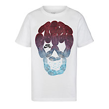 Buy Nike SB Boys' Sole Deck Skull T-Shirt, White Online at johnlewis.com