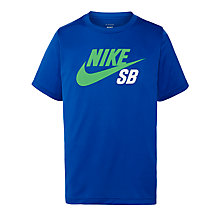 Buy Nike SB Boys' Logo T-Shirt, Light Blue Online at johnlewis.com