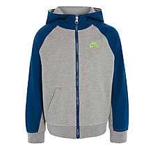 Buy Nike SB Boys' Full Zip Hoodie, Dark Grey Online at johnlewis.com