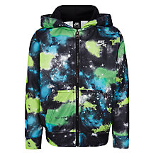 Buy Nike SB Boys' Galaxy Full Zip Hoodie, Black/Multi Online at johnlewis.com