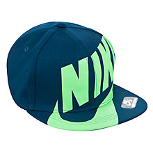 Buy Nike SB Flat Brim Adjustable Cap, Blue, One Size Online at johnlewis.com