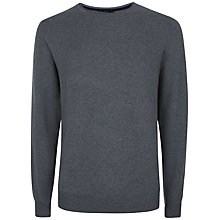 Buy Jaeger Gostwyck Wool Crew Neck Jumper, Grey Melange Online at johnlewis.com