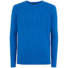 Buy Jaeger Cable Knit Cotton Jumper Online at johnlewis.com
