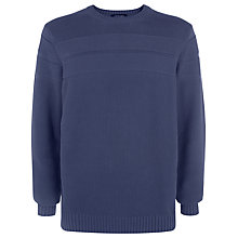 Buy Jaeger Relaxed Crew Neck Sweatshirt, Nightshadow Blue Online at johnlewis.com