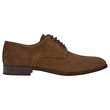 Buy Reiss Clarkson Suede Derby Shoes, Mid Brown Online at johnlewis.com